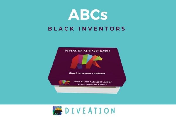 Black Inventors box, partially open