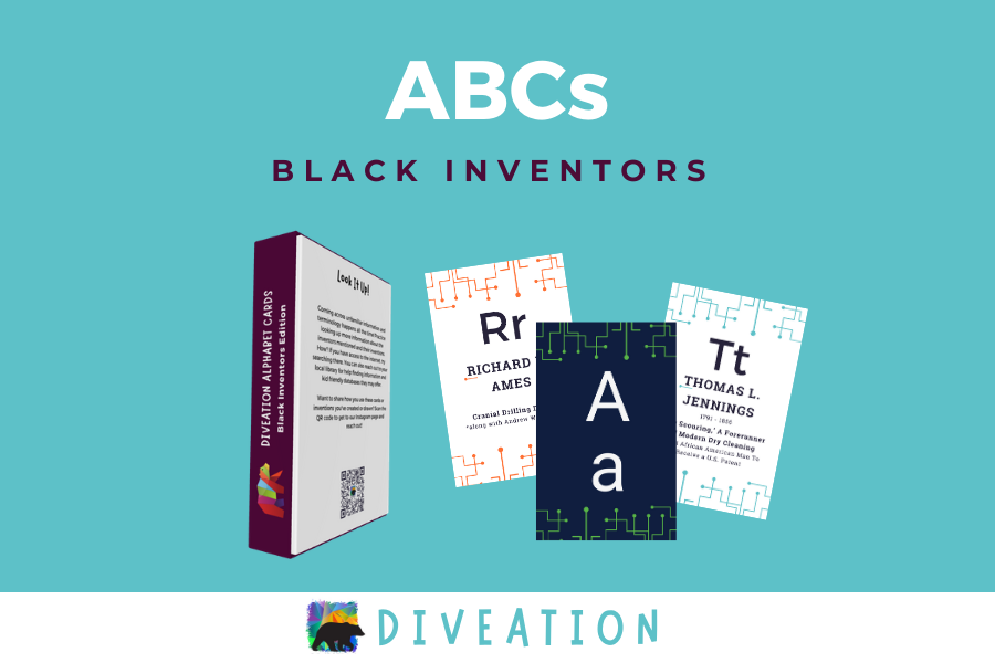Black Inventors box back and cards