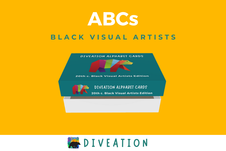 Black Visual Artists box, partially open