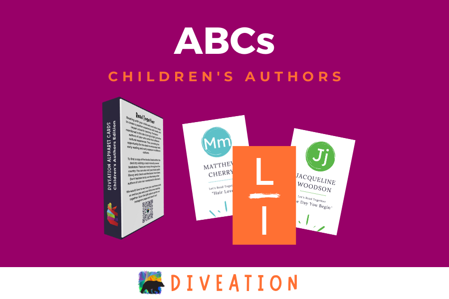 Children's Authors box back and cards