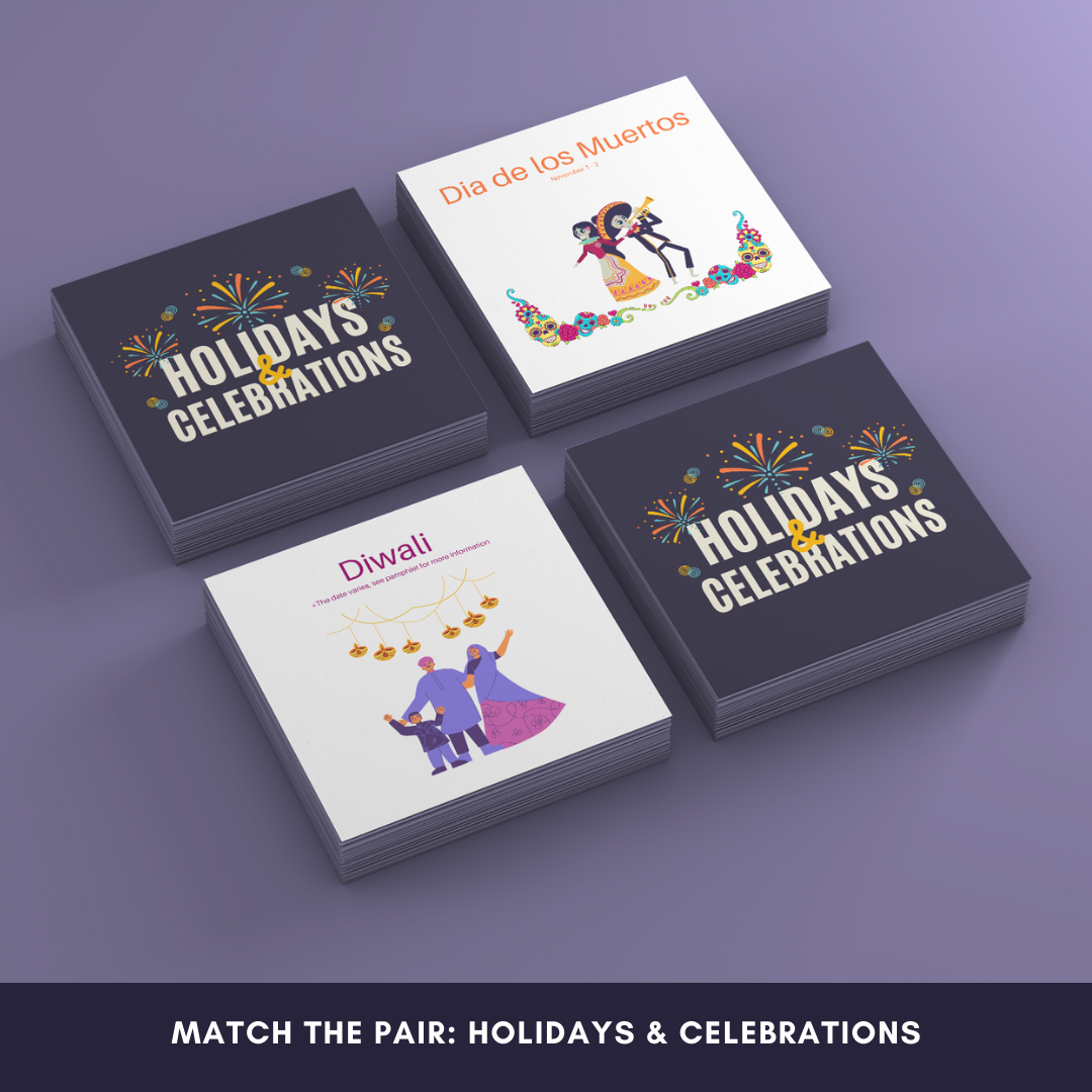 Holidays and Celebrations matching game